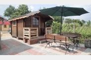 Sauna s venkovním posezením